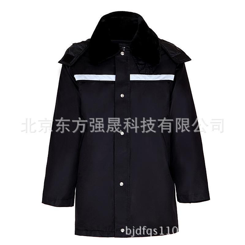 新款多功能執勤防寒棉服大衣加厚勞保工作服加厚冬季安保防寒服