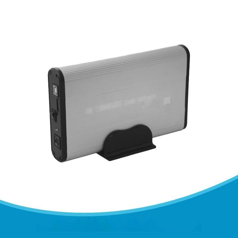 直銷3.5寸usb2.0鋁合金移動硬碟盒SATA串口外殼IDE並口外置盒子