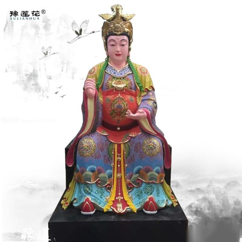 彩绘地母娘娘神像、后土娘娘神像、三霄娘娘佛像 地姥