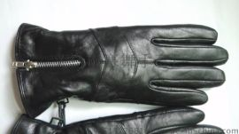 羊皮手套,真皮,女式,拉链款式保暖手套,厂家直销。