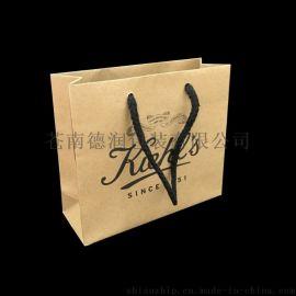 厂家订制化妆品手提袋 牛皮纸袋 小礼品包装袋 专柜购物袋订制