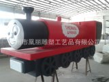 厂家定制树脂纤维玻璃钢儿童玩具火车头
