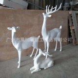 玻璃鋼抽象雕塑羊 幾何雕塑系列玻璃鋼鹿子雕塑草地裝飾雕塑