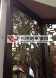 仿銅鏤空圍邊不鏽鋼花格,酒店不鏽鋼花格屏風供應商