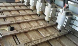 多头木工家具雕刻机厂家直销  红木家具雕刻机