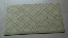 厂家定制天然橡胶植绒压花防滑厅垫门垫地垫