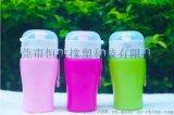 热销硅胶儿童水杯 户外运动水杯 便携式硅胶旅行水杯