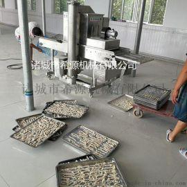 全自动鸡柳条裹雪花片机 鸡柳条裹面包糠机厂家