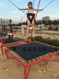 兒童笨豬跳廠商營口-雙人笨豬跳跳牀適合場地