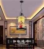 新中式鸟笼灯笼铁艺单头创意餐厅吊灯书房茶馆饭店火锅店吊灯批发MS-P6016B