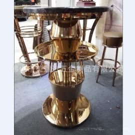 KTV不锈钢发光茶几 不锈钢酒吧吧台 家具厂家定做