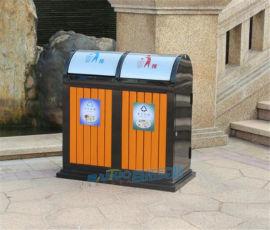 户外垃圾桶有盖景区公园学校室外钢木垃圾桶小区果皮箱
