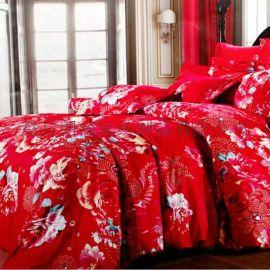 纯棉四件套 结婚床上用品 婚庆用品 大红床单 被套