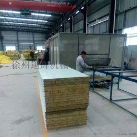 厂家生产75mm厚防火岩棉彩钢夹芯板净化板