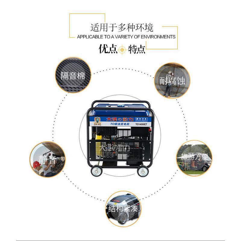 保证大泽动力10KW柴油发电机TO14000ET