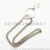 新潮朋克雙串珠鏈 時尚不鏽鋼腰鏈 金屬褲鏈