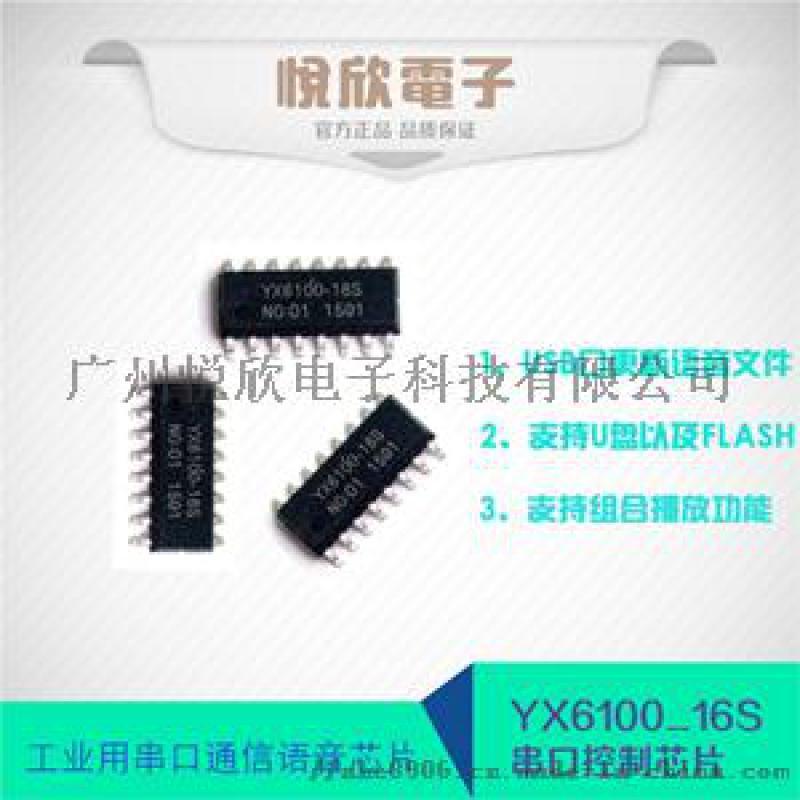 悅欣電子語音晶片YX6100-16S串口MP3晶片