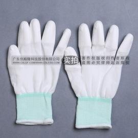 PU涂指手套 白色尼龙涂指手套 无尘手套作业手套