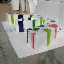 厂家3字形玻璃钢户外休息椅家居阳台