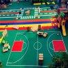 黑河市气垫悬浮地板篮球场塑胶地板拼装地板厂家