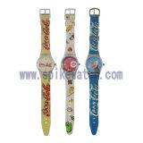 優質錶廠定製新款斯沃琪塑膠石英促銷禮品腕錶