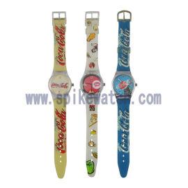 **表厂定制新款斯沃琪塑胶石英促销礼品腕表