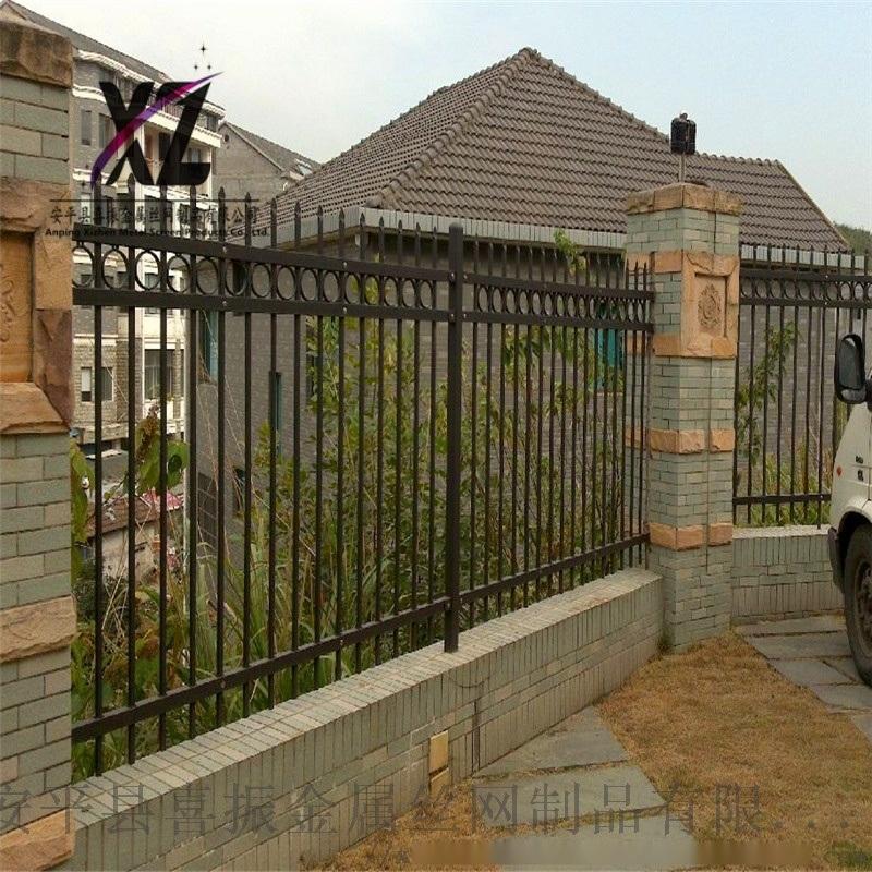锌钢栅栏大门,定做锌钢护栏尺寸,带尖围墙栏杆生产