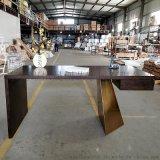 東莞市廠家直銷不鏽鋼實木簡約書房書桌