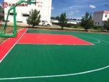 長沙小區塑膠球場價格 公園學校硅PU籃球場施工廠家