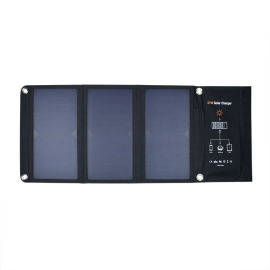 单晶硅材质21W折叠板太阳能充电器板