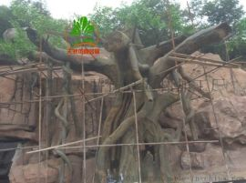山东水泥树水泥假山  制作厂家