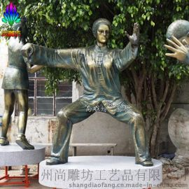 仿铜雕塑_运动人物雕塑_玻璃钢仿铜景观雕塑_街道广场摆件 园林场景承接