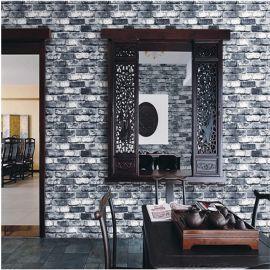 美尚雅蒂砖块PVC墙纸 复古背景墙家装满铺现代砖纹中式防水
