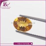 厂家直销天然黄水晶蛋形6*8mm千禧工宝石工艺品裸石首饰加工镶嵌