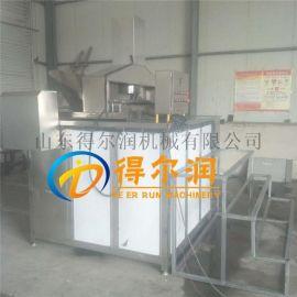 山东仿手工油面筋油炸机器  R-2燃气油面筋油炸锅