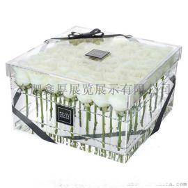 9孔9支亚克力花盒定制花盒 有机玻璃花盒塑料盒子