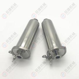 定制不锈钢空气过滤器带排气阀过滤器 快装高效过滤器