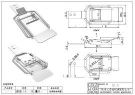 厂家供应**QF-669快开不锈钢搭扣 核电工程快开自锁搭扣 把手