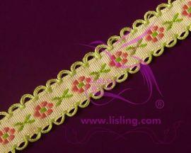 2CM涤纶提花织带 纯棉提花织造流须商标织带