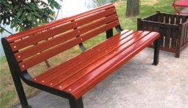 公园广场用木制休闲椅,户外防腐木木条休闲椅座椅