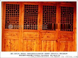 成都的仿古花格门窗 实木门窗厂家