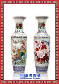 供应定做景德镇陶瓷花瓶 **装饰青花瓷花瓶 落地大花瓶
