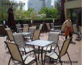 特斯林休闲伞桌阳台户外桌椅酒吧咖啡厅铝合金五件套