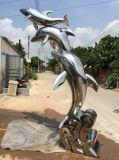 广州专业不锈钢雕塑海豚制作厂家