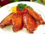 商业街奥尔良烤鸡翅膀 步行街奥尔良烤鸡翅膀