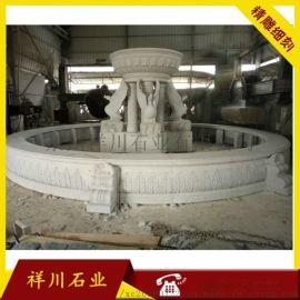 欧式水钵 大型喷泉雕刻 水钵雕刻厂家 砂岩水钵