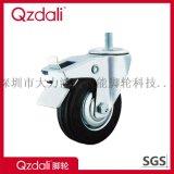 丝杆镀锌橡胶3-8寸工业脚轮