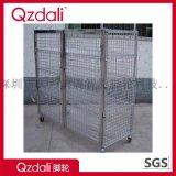 帶輪鍍鉻線網貨架倉庫倉儲家用置物層架