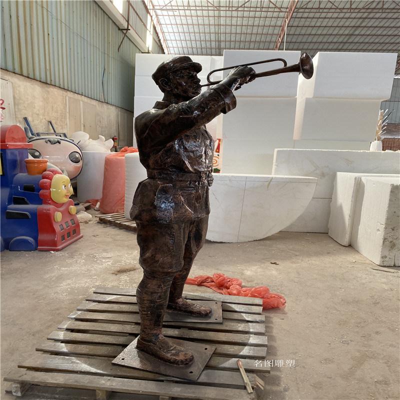 肇庆玻璃钢**雕塑定制 红色主题人物雕塑