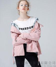 衣服货源平台卡丹美思20年冬装新款女式风衣外套